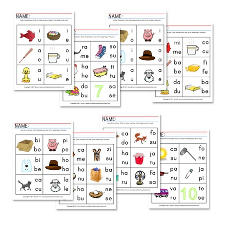 NEW 894 VOWEL BLENDS WORKSHEETS | vowel worksheet